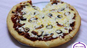 بيتزا المشروم