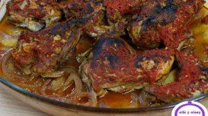 صينية البطاطس بالدجاج فى الفرن